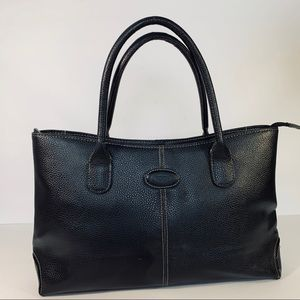 TOD'S handbag in Plebbled Leather